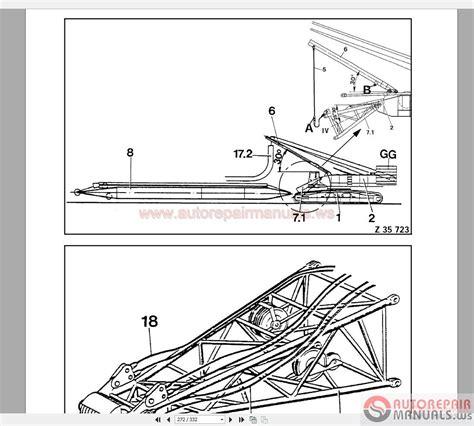 terex demag tc 2600 500t shop manual auto repair manual