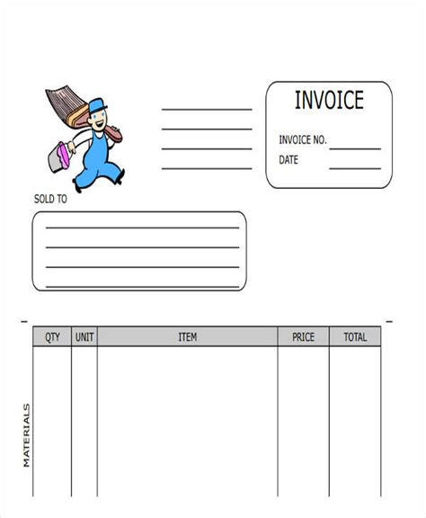 painters invoice template painting invoice template 28 images painters invoice