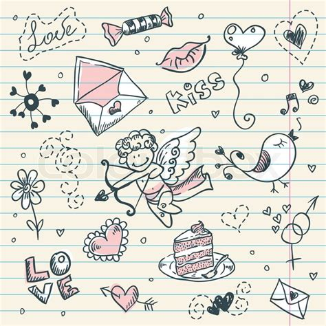 doodle valentines day doodle s day scrapbook page with sketch