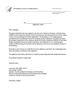Recommendation Letter Residency landlord reference letter forms and templates fillable