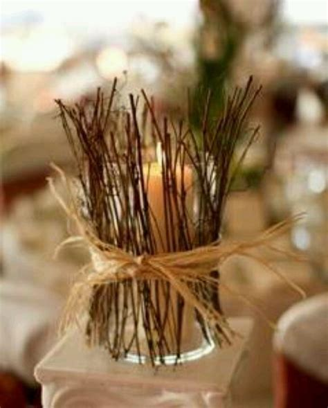 Diy Twig Candle Holder Centerpieces For The Home Twig Candle Holder Centerpiece