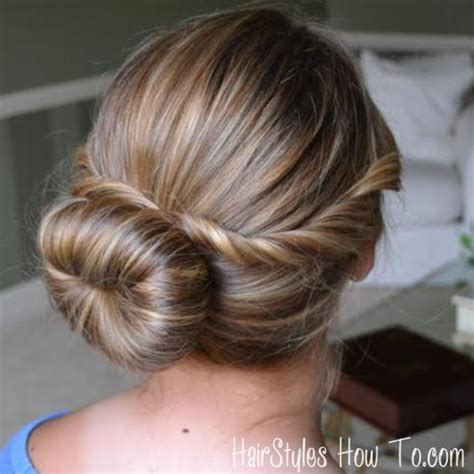 twisted flip bun updos pictures tutorial easy updo twist bun closeup hairstyles how to