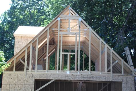 Garage Attic Trusses by 2 Car 2 Story Garage Using Attic Trusses And Dormer