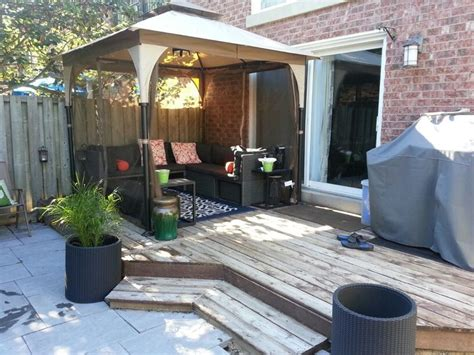 Small Patio Gazebo Outdoor Gazebo For Small Yard Patio Furniture Patio Backyard Backyardoasis Garden Decks