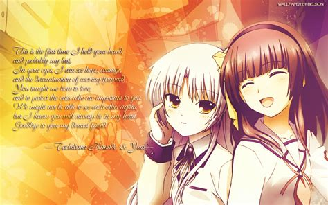 wallpaper anime with quotes anime angel beats wallpapers desktop phone tablet