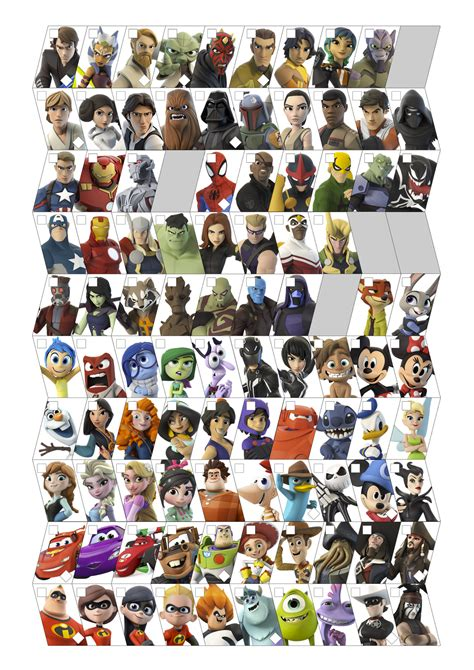 infinity character disney infinity character roster by ravenoth the brave on