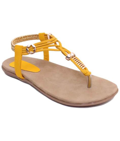 flat yellow sandals klaur melbourne yellow brown flat sandals for