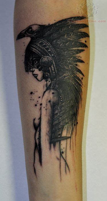 american crow tattoo american beautiful tattoos on
