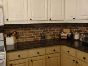brick tile kitchen backsplash a little piece of heaven a surprise brick backsplash and some curtains