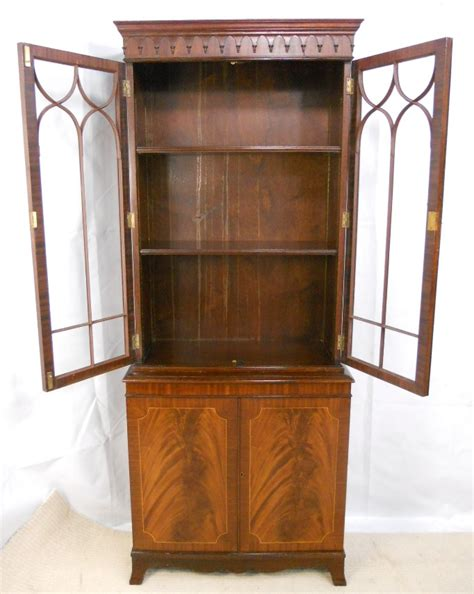 Small Bookcase Cabinet Mahogany Small Bookcase Cabinet In The Georgian Style