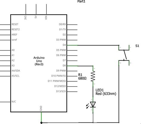 arduino uno pull up resistors using push button switch with arduino uno
