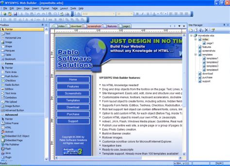 website planning software build a web site freeware shareware web design software