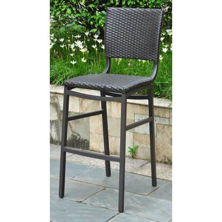 Walmart Wicker Bar Stools by Wicker Resin Aluminum Patio Bar Stool Set Of 2 Walmart