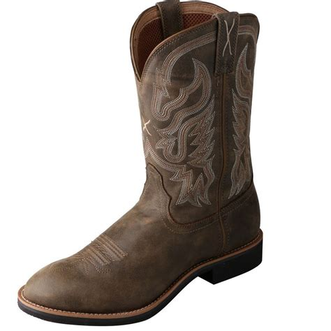 twisted x western boots mens cowboy spurs top bomber