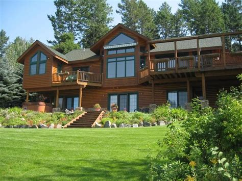 Flathead Lake Rental Cabins by Flathead Lake Exquisite Log Home And Guest Vrbo