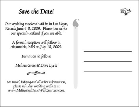 save the date cards wording template 8 best images of postcard save the date card lights