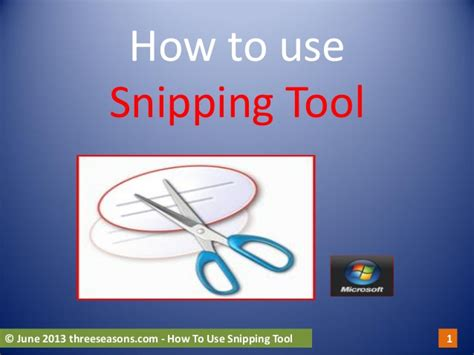 how to use on a how to use snipping tool
