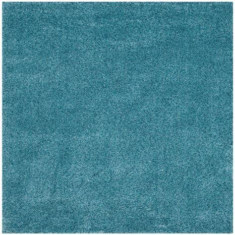 Safavieh California Rug Safavieh California Shag Turquoise 6 Ft 7 In X 6 Ft 7 In Square Area Rug Sg151 5858 7sq
