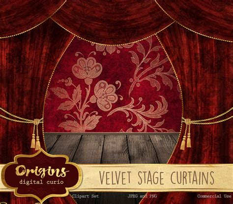 Velvet Stage Curtains Velvet Stage Curtains 2 Origins Digital Curio