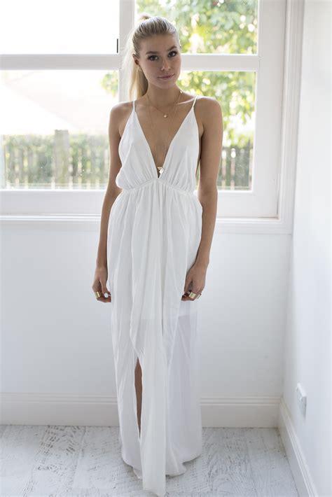 Goddess Maxi Dress   White   Dresses