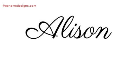 alison archives free name designs