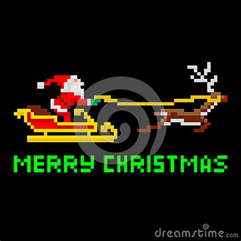 best pixel merry christmas retro pixel santa royalty free stock photos image 34028958