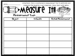 activity 6 non standard measurement first grade math