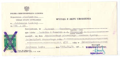 Birth Records Poland Forum Polishorigins View Topic Records Translations