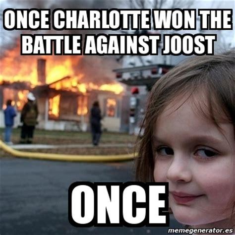 Charlotte Meme - meme disaster girl once charlotte won the battle against