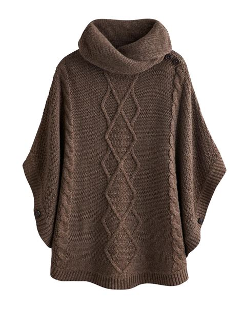 knit poncho brown poncho sweater sweater