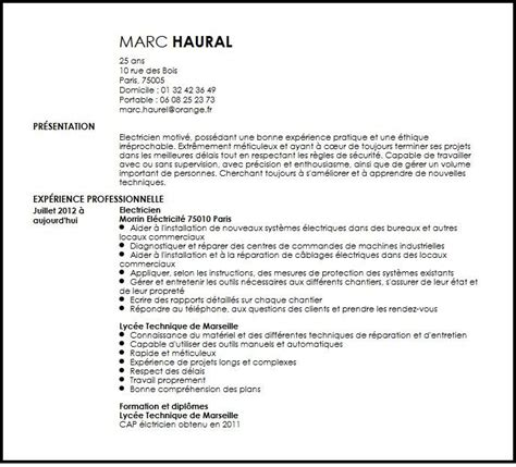 Resume And Cv Samples by Cv Electricien Exemple Cv Electricien Livecareer