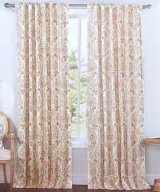 Red Paisley Drapes Envogue Red Blue Damask Paisley Window Curtain Panels Set