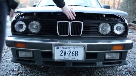 how to open a bmw how to open e30 with broken release cable latch