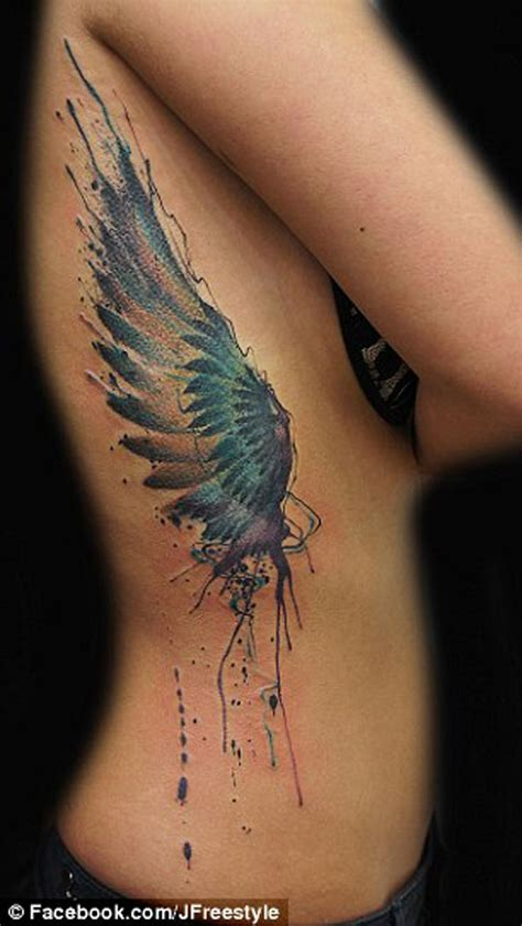 unexpected tattoo placement best 25 angel wing tattoos ideas on pinterest wing
