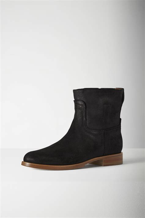 rag and bone boots lyst rag bone suede ankle boots in black