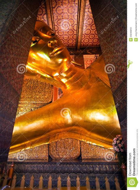 giant reclining buddha the giant reclining buddha in wat stock photos image