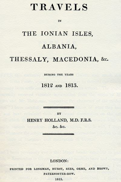 travels in the ionian isles albania thessaly macedonia c vol 2 of 2 during the years 1812 and 1813 classic reprint books 1812 1813 henry travels in the dominions of ali