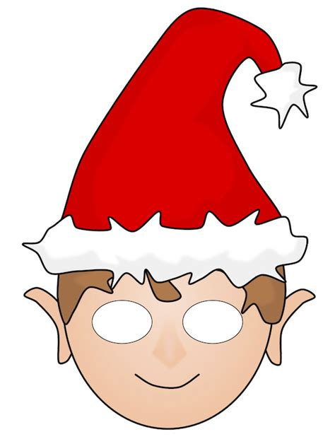 printable christmas masks free christmas elf printable mask christmas printables