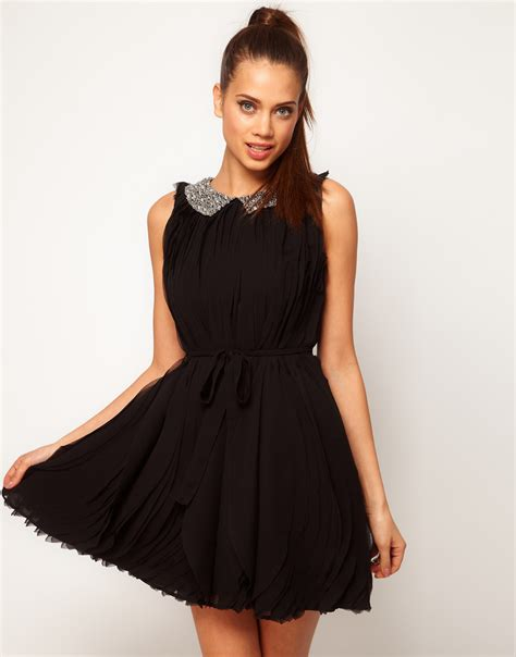 collar swing dress swing dress with embellished collar sheplanet