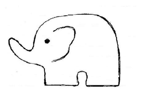 elephant cut out template baby elephant cut out pattern pictures to pin on