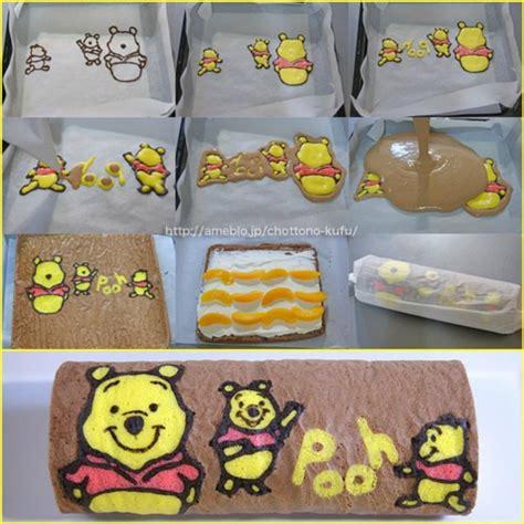 winnie the pooh cake roll cute idea kochen