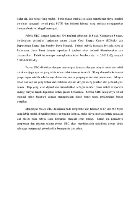 Batubara Dan Pemanfaatannya Pengantar Teknologi Batubara 1 paper sde teknologi batu bara bersih