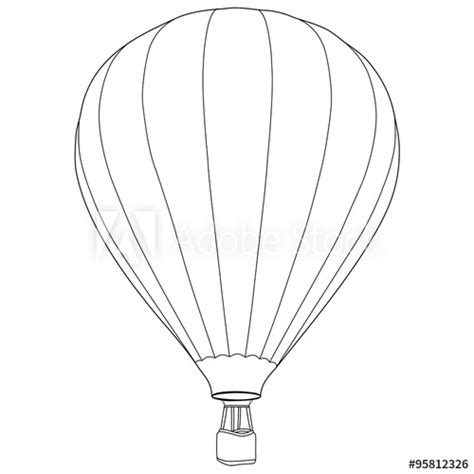 air balloon outline drawing buy  stock vector