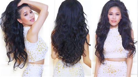 heatless wavy hairstyles my everyday hair heatless wavy hair youtube