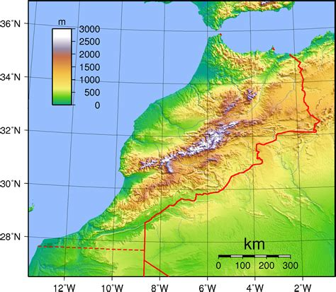 5 themes of geography morocco marokko temperaturkarte