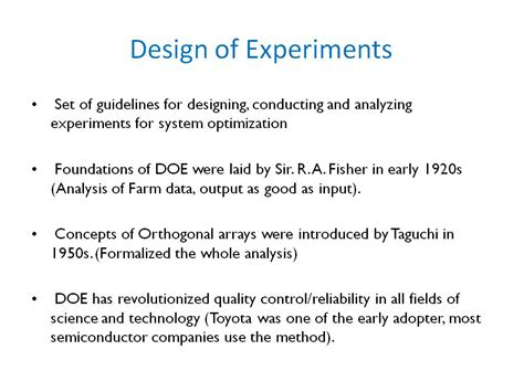 design of experiments nanohub org resources ece 695a lecture 35 design of