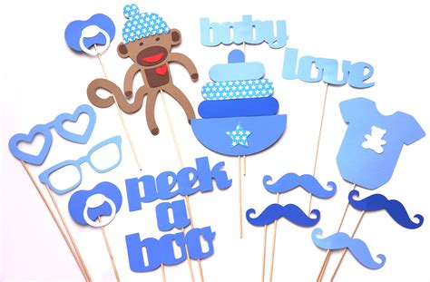 printable photo booth props for baby shower