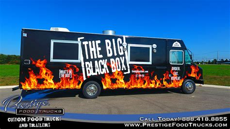 3 compartment for food truck the big black box food truck prestige custom food truck