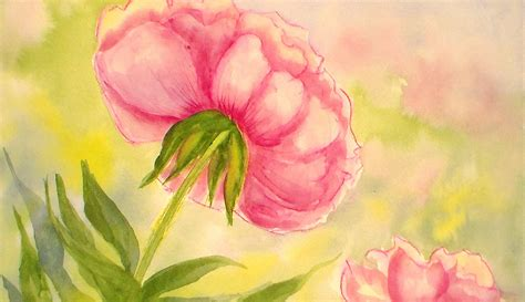 watercolor tutorial peony how to paint a peony flower in watercolors easy tutorial