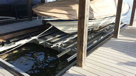 used 5000 lb boat lift for sale lake norman dock builders fox docks premier dock